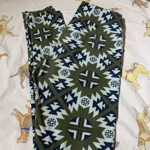 OS LuLaRoe Tribal Leggings